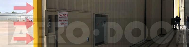 Sensing Edge on leading edge door panel